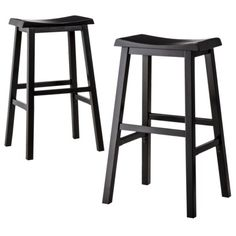 COSTWAY Saddle Seat Bar Stools Set of 2 Vintage Counter Height Barstools Wood Bistro Dining Kitchen Pub Chairs Black 24 >>> You can get additional details at the image link-affiliate link. Black Stool, Black Bar Stools, Wooden Bar Stools, 24 Bar Stools, Wooden Counter, Patio Bar Set, Pub Table Sets, Pub Tables, Restaurant Tables