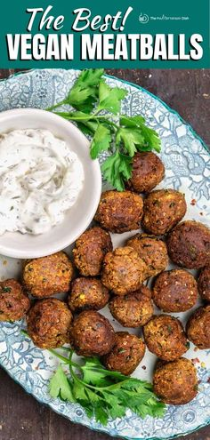 With a base of roasted eggplant, lentils, sweet potatoes + herbs and spices, these vegan meatballs have a rich and robust flavor even meat lovers enjoy! Serve them with marinara sauce for dinner or as an appetizer with your favorite dip! Greek Recipes, Veggie Recipes, Vegetarian Recipes, Irish Recipes, Eggplant Meatballs, Vegan Meatballs, Mediterranean Diet Recipes, Mediterranean Dishes, Clean Recipes
