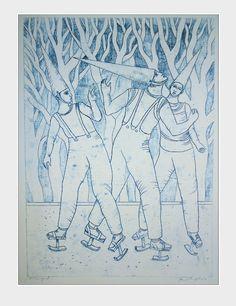 Monoprint by Pawel Krol Printing, Inspiration, Art, Biblical Inspiration, Art Background, Kunst, Stamping, Inhalation, Art Education