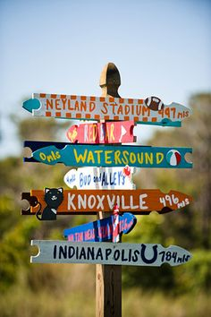 I'd love to do this in the back yard and include all the places we've lived, where the kids were born, where we've had awesome vacations, etc. LOVE this idea!!!