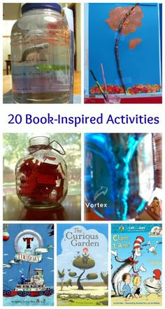Crafts, science & exploration activities for kids -- all inspired by great children's books!
