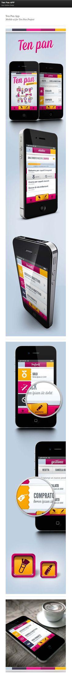 Ten Pan App via Behance