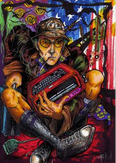 #Hunter_S_Thompson will always be iconic of sex, drugs and Las Vegas --  there is no better way than to remember the mad genius than through many variations of fan art.