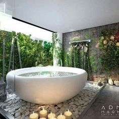 Find the most impressive, modern and luxury bathroom design ideas here. Outdoor Bathrooms, Dream Bathrooms, Dream Rooms, Beautiful Bathrooms, White Bathrooms, Luxury Bathrooms, Master Bathrooms, Dream Home Design, Home Interior Design