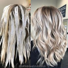 Balayage application and finished Dimensional blonde action Hair Color For Women, Hair Color And Cut, Ombre Hair Color, Blonde Ombre Hair Medium, Winter Hair Colour For Blondes, Blonde Fall Hair Color, Butter Blonde Hair, Dimensional Blonde, Balayage Hair