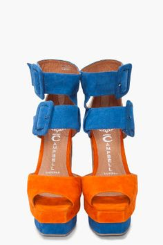 Maybe..Maybe not.   Jeffrey Campbell Suede Combo Heels