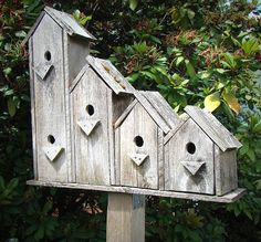 birdhouse condo - i couldn't make, but they're cute!