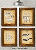 Original Garden Tools Patent Prints  Set of Four Photos (810) Unframed  Great Gift for Gardeners