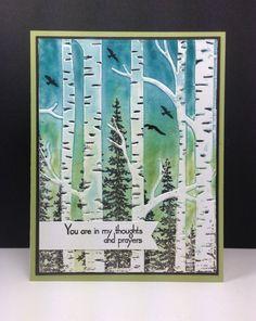 Wonderland, Woodland embossing folder: SU!, braiding and sponging, by beesmom at splitcoast