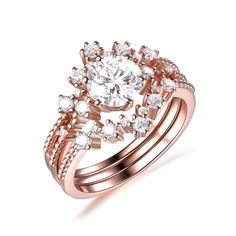 Make Your Own Ring, Diamond Wedding Bands, Wedding Ring, Charles And Colvard Moissanite, Pave Ring, Bridal Sets, Custom Jewelry, White Gold, Rose Gold
