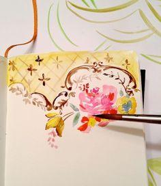 art journal inspiration ... Pam Garrison painting