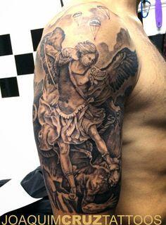 S Miguel Arcanjo S Michael archangel tattoo power estudios lojas de tatuagens porto matosinhos portugal melhor estudio melhor tatuador best tattoo artist joaquim cruz.JPG (imagem JPEG, 1180 × 1600 pixels) - Redimensionada (57%)