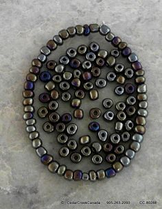 Iris Round Antique Bronze Number 6 Glass Seed Beads                                    CC-80288