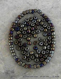 Iris Round Antique Bronze Number 6 Glass Seed Beads                                    CC-80288
