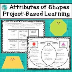 Attributes of Two-Dimensional Shapes Project-Based Learning Project Based Learning, Fun Learning, Creative Teaching, Teaching Ideas, Teaching Math, Learning Activities, Teacher Resources, Two Dimensional Shapes, Math Lessons