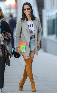Olivia Munn from The Big Picture: Today's Hot Photos  High boots and daisy dukes! The actress stuns on the streets of Vancouver.