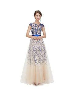 Ever-Pretty Langes Kleid mit Pailetten, A-Linie