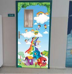 Where can I find this door poster here in the US? Wedding Drawing, Welcome To School, School Door Decorations, Kids Wall Murals, School Doors, Board Decoration, Classroom Door, Travel Themes, Dressing