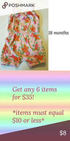 Final Price Drop! Girls 18 months Floral Romper Super cute! child of mine One Pieces