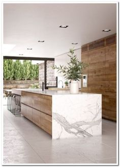 21 Modern Kitchen Concepts Every Home Prepare Requirements to See - luxury kitchen Home Decor Kitchen, Kitchen Living, Interior Design Kitchen, Modern Interior Design, New Kitchen, Kitchen Modern, Rustic Kitchen, Contemporary Kitchen Design, Kitchen Layout