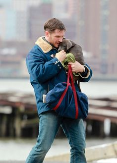 Tom Hardy Photos - Tom Hardy Films 'Animal Rescue' With a Cuddly Co-Star - Zimbio