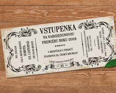 Retro Pozvanka Na Oslavu Vstupenka Pictures Birthday Invitations, Retro, Presents, Crafts, Pictures, Minimalism, Gifts, Photos, Manualidades