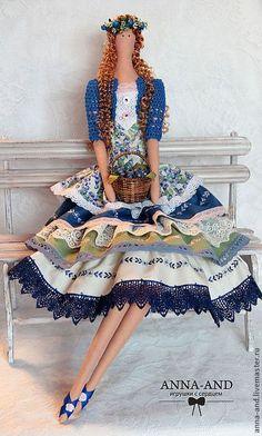 Куклы Тильды ручной работы. Ярмарка Мастеров - ручная работа Вилена-любительница черники.(по мотивам). Handmade.: