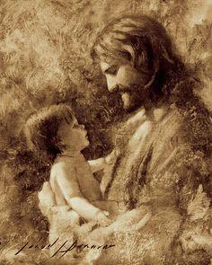 Lámina de Jesucristo Para tales es el Reino por por JaredBarnesArt                                                                                                                                                                                 Más