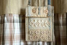 Necklace Textile art Mini Pouch Secret Bohemian necklace