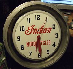Indian motorcycle clock