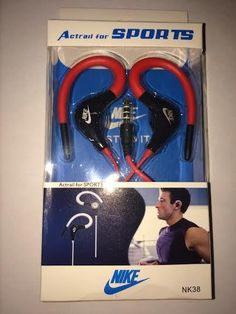 Sports Red Nike Ear hook Earphone Earbud With Mic Running Headphones Headset
