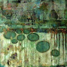 "benita-loca: "" Suzan Buckner ""2011-34-Abstract"" Acrylic on wood """