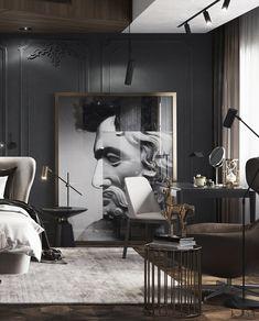Портфолио: Апартаменты с видом на Burj Khalifa Luxury Homes Interior, Luxury Home Decor, Modern Interior Design, Luxury Furniture, Furniture Design, Neoclassical Interior, Dark Interiors, Interior Inspiration, Design Inspiration