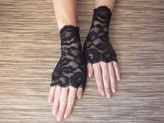 Lace gloves\Black Lace Gloves\ Fingerless Gloves\ Lace Gloves\Black Gloves\Cuff Lace Gloves by JuliannaFashion on Etsy https://www.etsy.com/listing/245524401/lace-glovesblack-lace-gloves-fingerless
