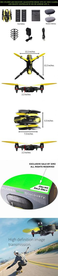 Xiro Xplorer Mini Discovery, Quadcopter Drone with HD Video Camera and Remote Controlled by iOS or Android APP, 2 Smart Flight Batteries and 1 Hard Case Included #fpv #parts #drone #xiro #shopping #gadgets #kit #racing #camera #tech #products #2 #plans #technology