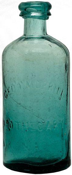 Geo. P Morrill Rare Apothecary Bottle NV - Virginia City,Storey County - c1863-1865 - Nevada Bottles