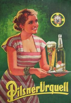 1950's Ad for Pilsner Urquell