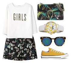 """""""Tropic"""" by thysania ❤ liked on Polyvore featuring Miss Selfridge, MANGO, Gucci, Converse, Quay and Kate Spade"""