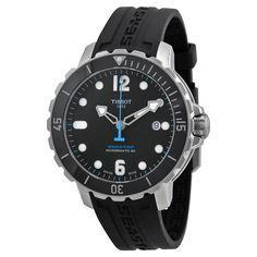 Tissot T-Sport Seastar 1000 Automatic Black Dial Black Rubber Men's Watch T0664071705702