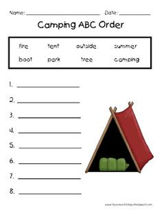 Free Printables for camping theme
