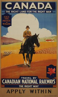 Canada Canadian National Railways Prince of Wales poster