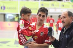 El jugador destacado de la primera final de la Liga Argos Futsal, Johany Vergara de Rionegro Futsal.