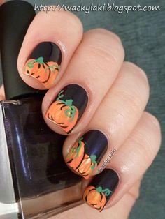25 Pretty Nail Art for Fall - Pretty Designs fall nails pumpkin - Fall Nails Cute Halloween Nails, Halloween Nail Designs, Cute Nail Designs, Pretty Designs, Fall Halloween, Scary Halloween Pumpkins, Halloween Makeup, Halloween Ideas, Fancy Nails