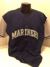 MLB, MARINERS SHIRT, XL MENS, BLUE AND GRAY, GRIFFEY 24