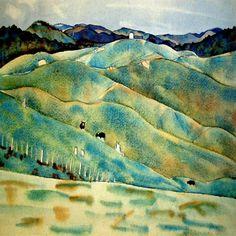 Rita Angus, Kaikoura Hills