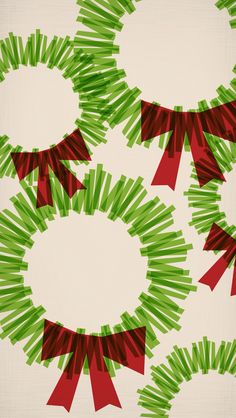 Green red wreath christmas