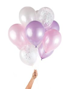 "Confetti without the mess of confetti? Sign me up! Our Unicorn Party Balloons are the perfect addition to your party. - 12 Latex Balloons (9 Solid & 3 Pre-Filled Confetti Balloons) - 11"" Diameter - He"