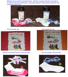 Kid birthday favor idea - great for bounce house birthdays.