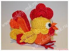 В этом мастер-классе мы предложим вам схему отдельных вязаных элементов для создания Огненного Петушка из киндер-яйца. Расскажем, как объединить элементы в одну веселую игрушку.