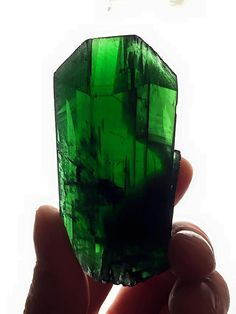 THIS CRYSTAL IS WORLD CLASS! Pristine Vivianite double terminated by GoldenHourMinerals on Etsy. Sorry, sold